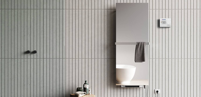 Bathroom electric radiator