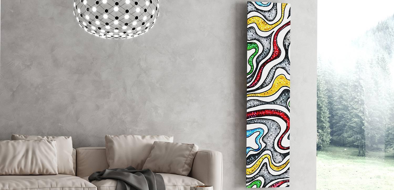 Termoarredo di design da soggiorno